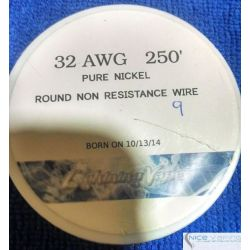 Pure Nickel A1 32 AWG. Cable no Resistivo. Genuino Lighting Vapes