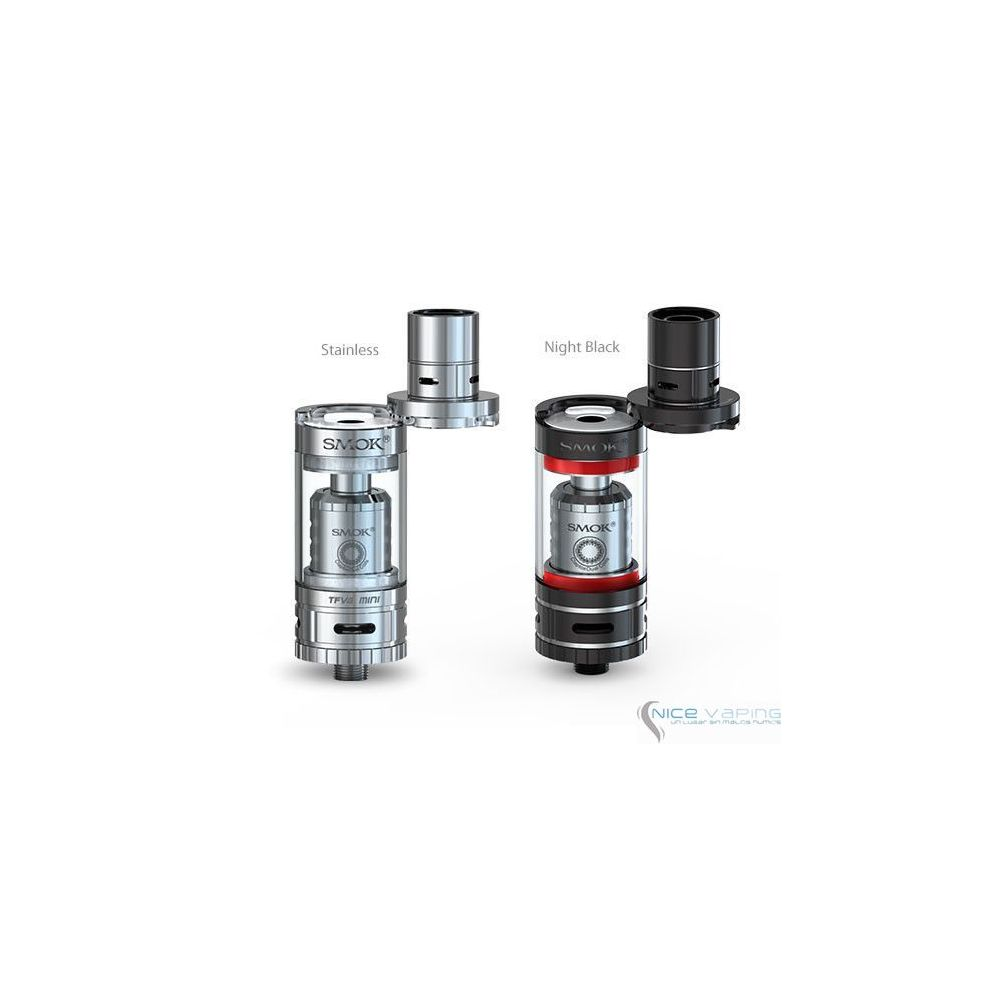 Smok TFV4 MINI Kit Completo 5 ml, 40-140W, Acero o Negro