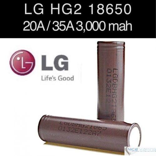 Lg Hg2 18650 20a 35a 3000mah Flat Nicevaping Store Mexico
