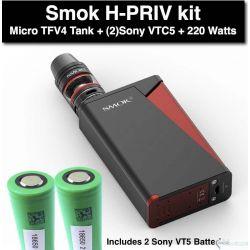 SMOK H-Priv 220W + Sony VTC5 Batteries