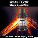 Smok TFV12 @28mm, 6ml, 350 Watts