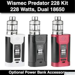Wismeck Predator 228 with Elabo Atomizer Kit @228W, 4.9ml