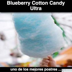 Sweet Blueberry Cotton Candy