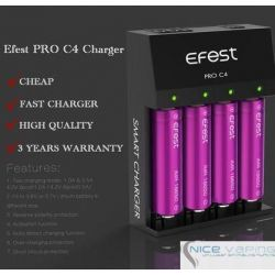 Efest PRO C4 - 4 Bay, AC & 12 VDC Input charger
