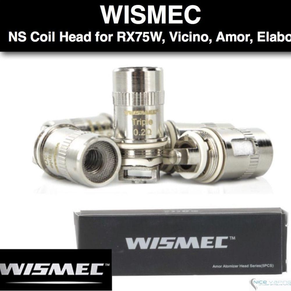 Wismec NS Coil Head for RX75, Armor Tank, RX mini, Elabo Tank, Predator 228 y Vicino Mod