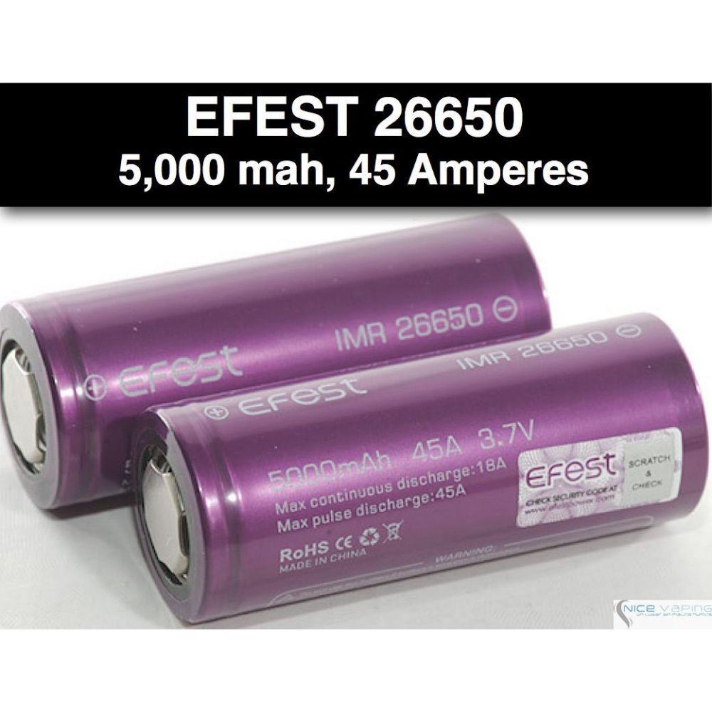Efest IMR 26650 5000mah   45 Amp