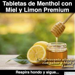 Tabletas de Menthol con Limon Premium