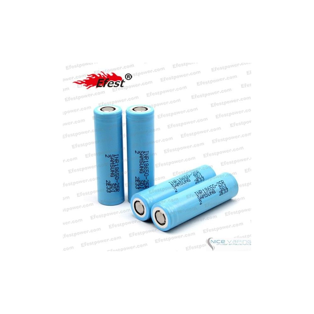 Samsung 20A INR 18650-25R 2500mah 20amp battery with flat top