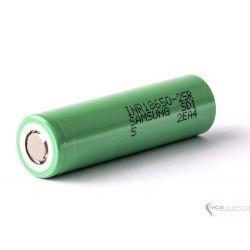 Samsung 18650-25R5 20A 2500mah bateria sin teton Verde