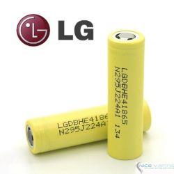 LG HE4 18650 20A/35A, 2,500 mah, Flat