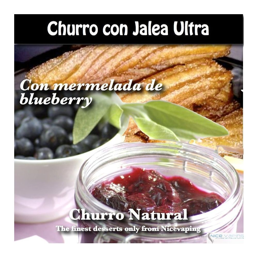 Churro con Mermelada de Blueberry Ultra