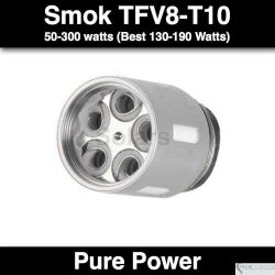 SMOK TFV4 Coil Replacement - 40-140 watts