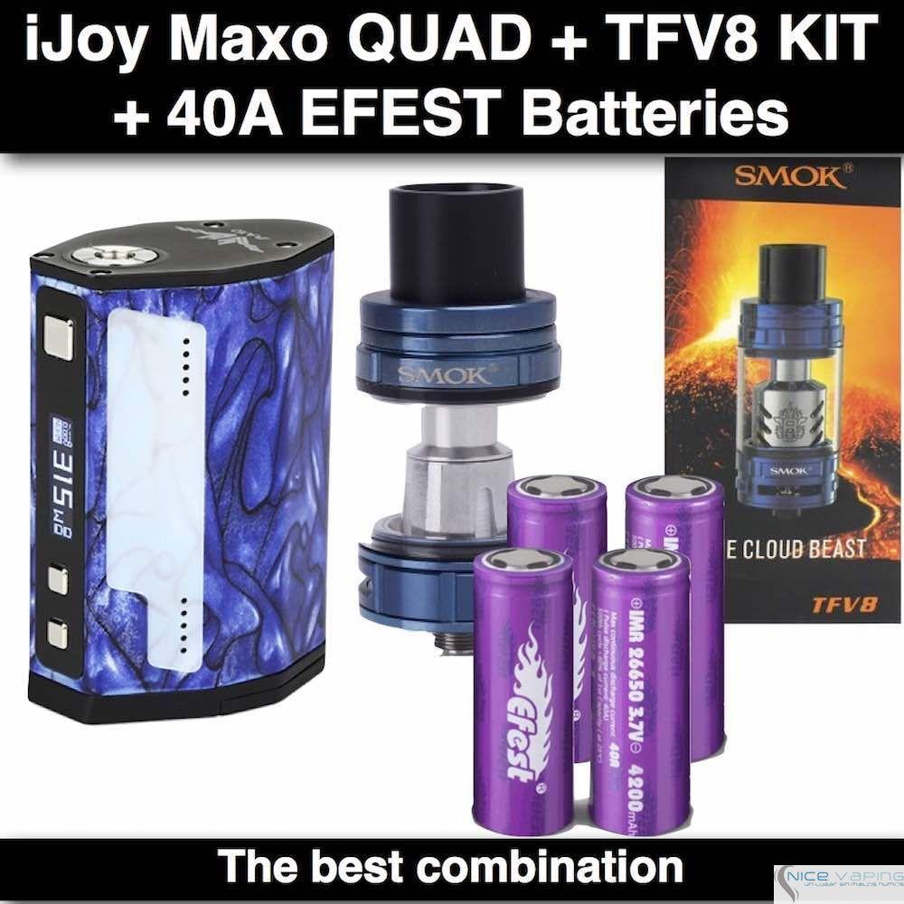ijoy Maxo Quad 18650- 315 Watts, Blue