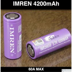 Efest IMR 26650 4200mah Flat top Green