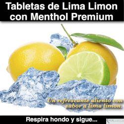 Tabletas de Menthol con Lima Limon Premium