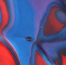 AZURE DARKER BLUE/REDDISH ORANGE