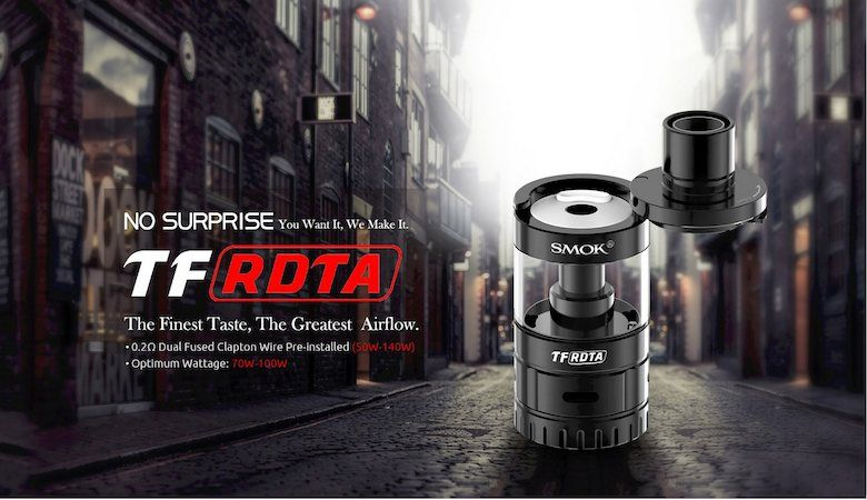 Smok TF RDTA, a dripper with tank